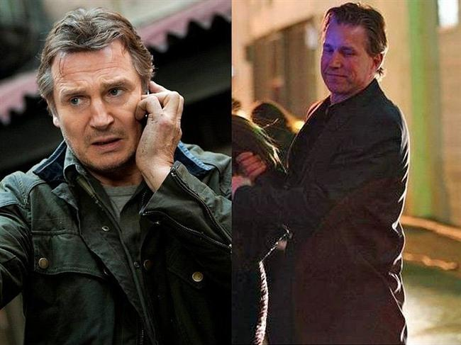 19. Liam Neeson ve İkiz Dublörü Mark Vanselow (Gunshy)