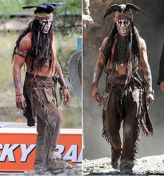 16. Johnny Depp ve İkiz Dublörü Todd Warren (The Lone Ranger)