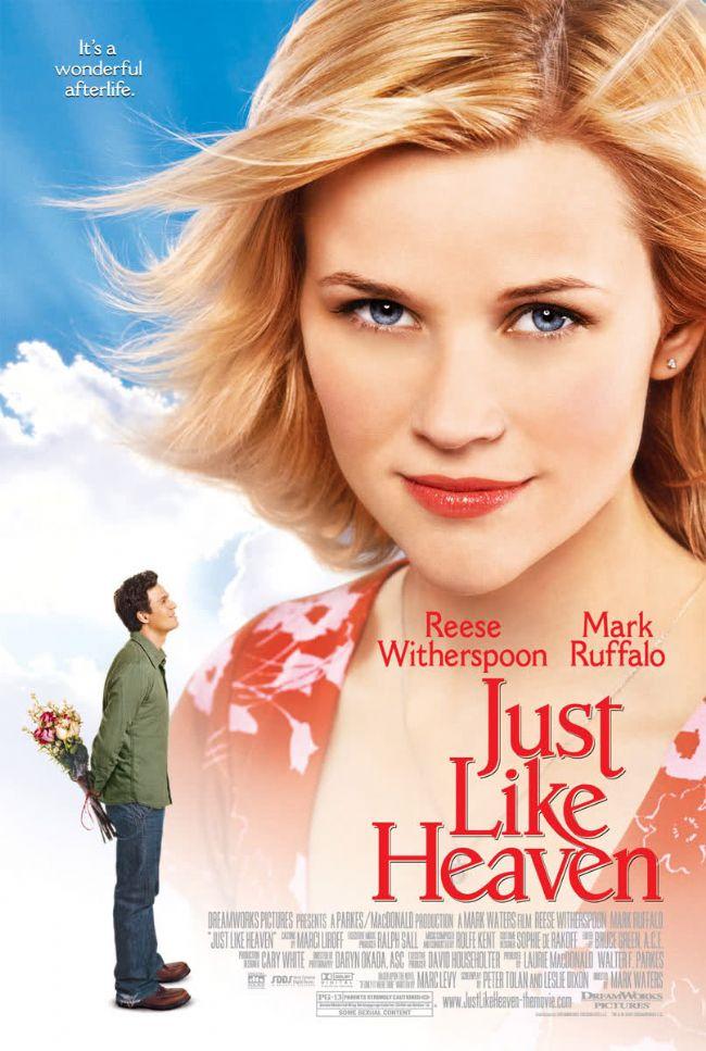 31. Cennet Gibi / Just Like Heaven (2005)  San Francisco'da kiraladığı yeni apartman dairesine taşınan David'in en son isteyeceği şey bir oda arkadaşıdır. Ancak Elizabeth isimli genç ve güzel bir kadının ansızın ortaya çıkmasıyla hayatında karmaşa başlar. Çünkü genç kadın o evin kendisine ait olduğunda ısrar etmektedir. David ortada büyük bir yanlış anlama olduğu kanısındadır. Elizabeth ortaya çıkışı kadar esrarengiz şekilde ortadan kaybolunca şaşkınlıktan dona kalır.