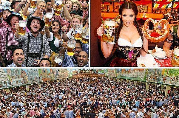 1. Oktoberfest - Münih  Her yıl 6 milyondan fazla insan Almanya'nın Münih şehrine akın ediyor ve 16 gün süren Oktoberfest'e katılıyor. 100 yıllık bir tarihi olan bu festival, birbirinden ilginç bira içme oyunlarıyla dünya çapında ün yapmış durumda ve Avrupa'nın en büyük festivali olarak kabul ediliyor.
