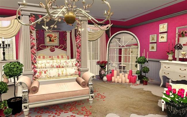 Bu romantik günde odaya serpiştirilmiş gül yaprakları kullanmayı da unutmayın.