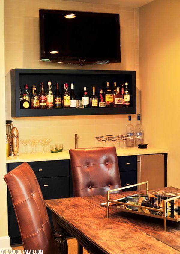 17. Küçük bar köşeleri.  Tahliye edilen bir bardan temin edebilirsiniz.