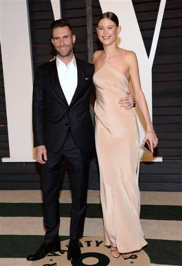 Prinsloo'ya kocası Adam Levine eşlik etti.