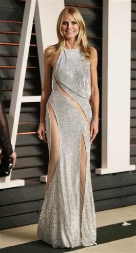 Heidi Klum yine her zamanki gibi güzel ve son derece zarifti.