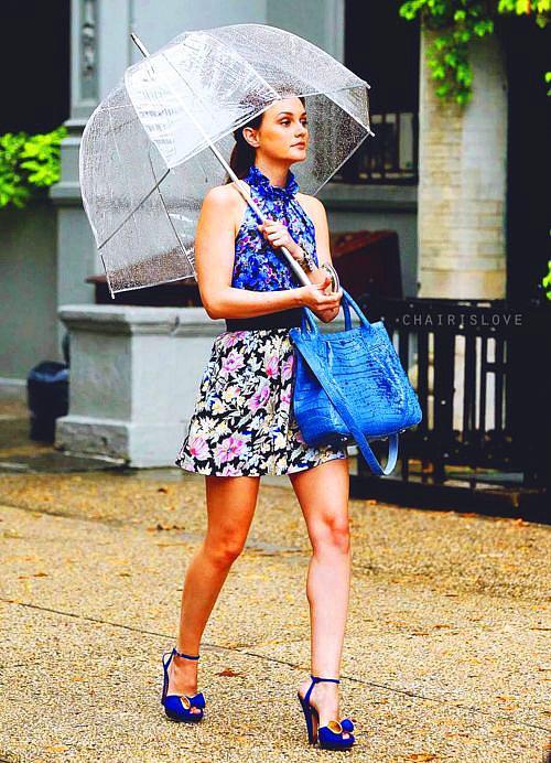 Yağmurlu havada bile tarz...