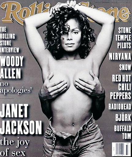 Janet Jackson ve o dönnemdeki eşi Rene Elizondo'nun Rolling Stones'a verdiği bu poz hiç unutulmadı.