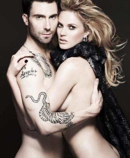 Adam Levine ve o dönemdeki sevgilisi model Anne V, Vogue dergisi için objektif karşısına geçti.