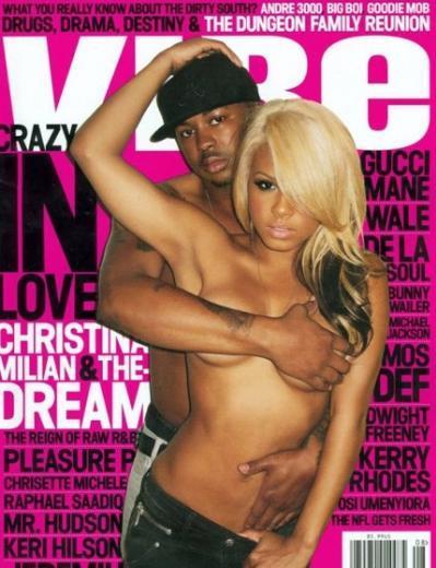Christina Millian ve The Dream'in Vibe dergisi için verdiği poz.