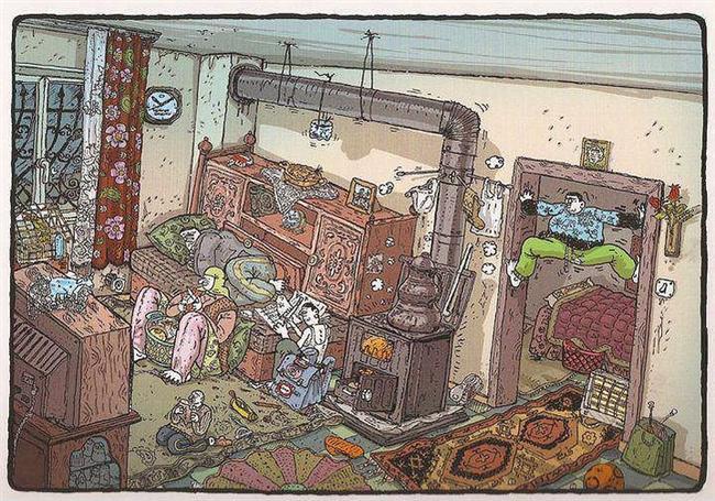 90'lı yıllarda evlerin genel görünümleri..