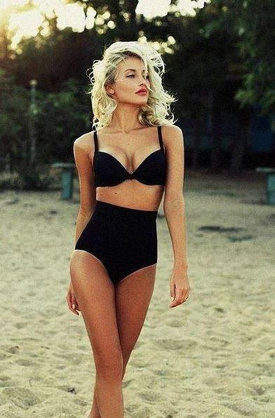 Yüksel bel bikiniler