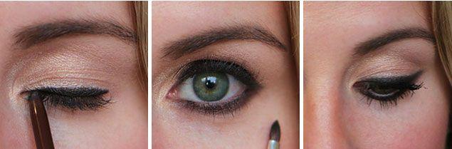 10. Sonucu beğenmezseniz far fırçası yardımıyla eyelinerınızı dağıtarak dumanlı bir görünüm yaratın.  Zaten öyle yapmak istememiş miydiniz?