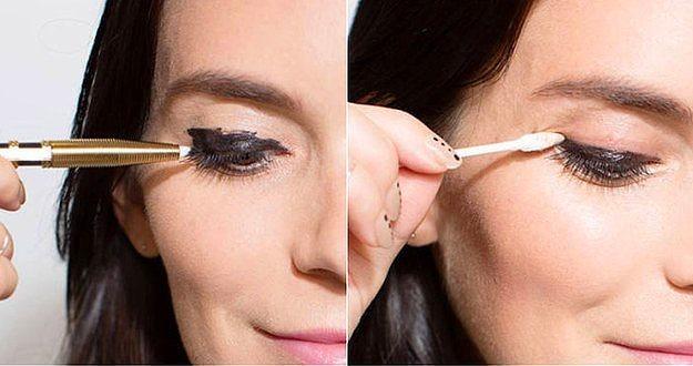 8. Yeni başlayanlardansanız; eyelinerı dağıtın gitsin sonra fazlalıkları temizlersiniz.  Eyeliner çekme konusunda uzmanlaşacak kadar vaktim yok diyorsanız bu sizin için en uygun yöntemdir. Sürerken iyi olmasanız da temizlerken mutlaka harikalar yaratacaksınız.