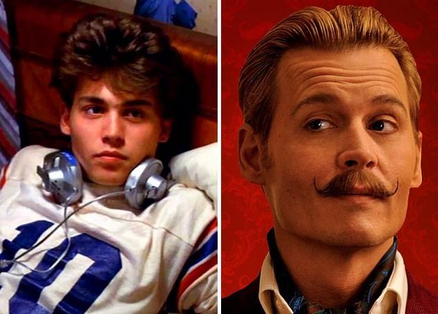12. Johnny Depp :  21 yaşında 1984 yapımı Elm Sokağında Kabus filmiyle üne kavuştu ve şimdi son filmi Mortdecai'de 51 yaşında.