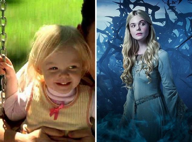 15. Elle Fanning :  2001'de Benim Adım Sam filminde 3 yaşındayken ablası Dakota Fanning'in canlandırdığı karakterin küçüklüğünü oynamıştı. Şimdiyse onu 16 yaşındaki haliyle Malefiz filminde izledik.