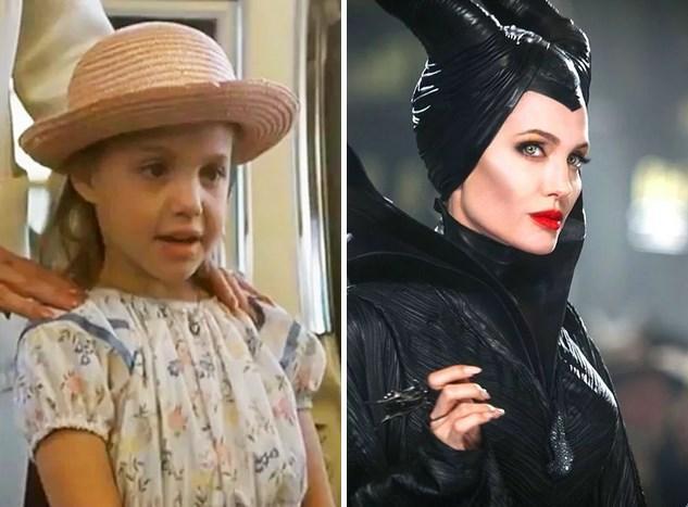 1. Angelina Jolie: 1982 yapımı Lookin' to Get Out filmiyle ekranlarda yerini aldığında 7 yaşındaydı. Son filmi Malefiz'de 39 yaşında.