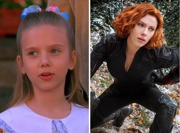 4. Scarlett Johansson: 1994 yapımı North adlı filmde 10 yaşındaydı. Son filmi Yenilmezler: Ultron Çağı'nda 30 yaşında.