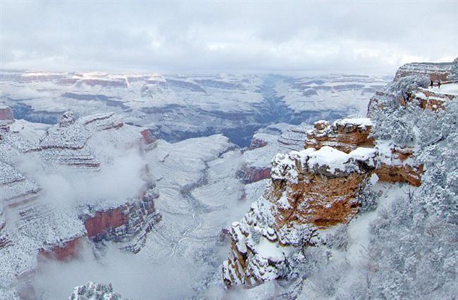 Büyük Kanyon'da Kar Fırtınası