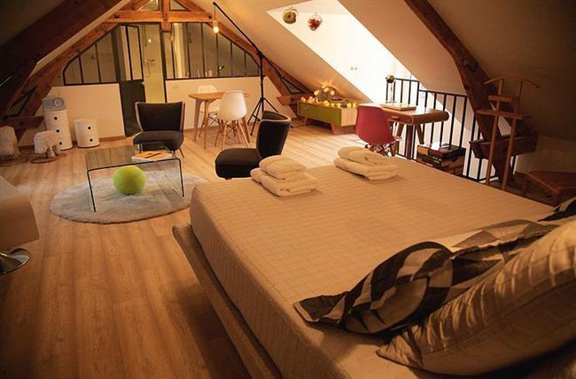 16. Birçok insanın hayali, çatı katı yatak odası