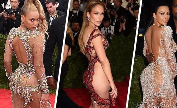 Her yıl ünlü yıldızların şıklık yarışı yaptığı gala gecenin bu sene en çok dikkat çeken isimleri birbirinden cesur transparan kıyafetler tercih eden Beyonce, Kim Kardashian ve Jennifer Lopez oldu.
