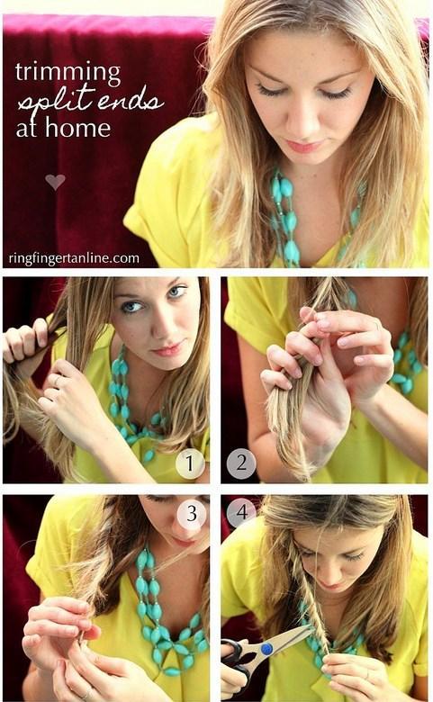 9. Kırıklarını almak için saçını bur ve çıkan yerleri kes.