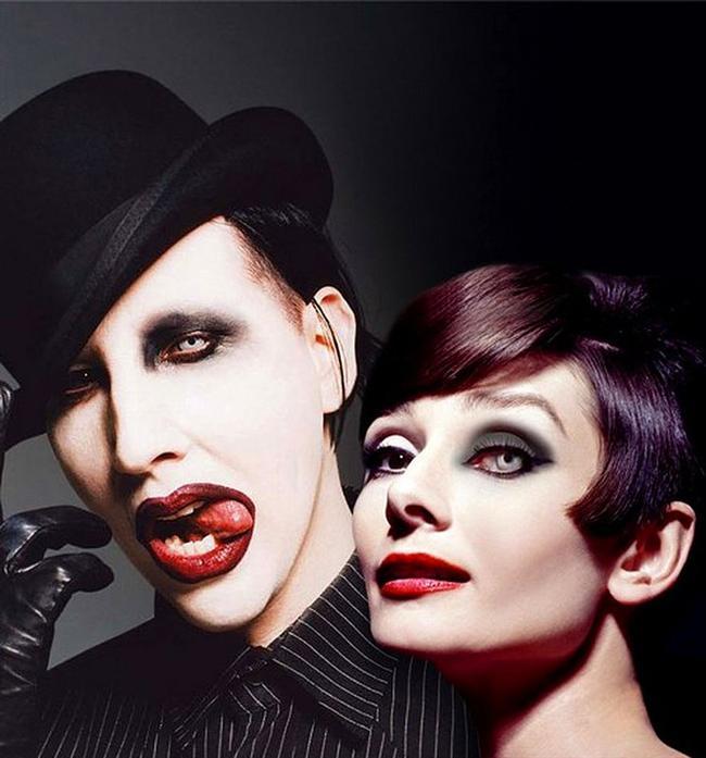 22. Marilyn Manson ve Audrey Hepburn