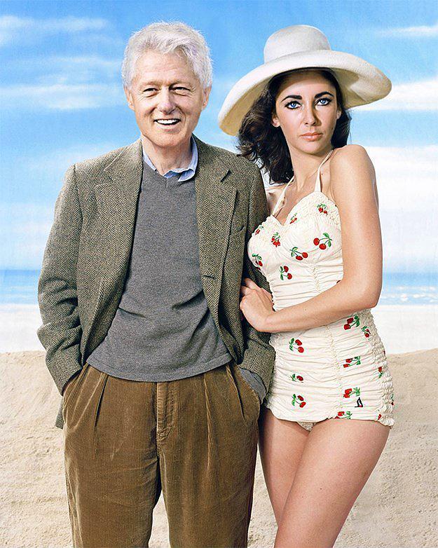 16. Bill Clinton ve Liz Taylor