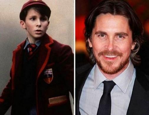18. Christian Bale 1987 ve şimdiki hali