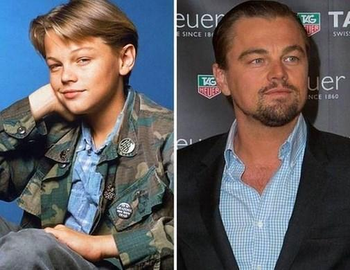 4. Leonardo DiCaprio 1990 ve şimdiki hali