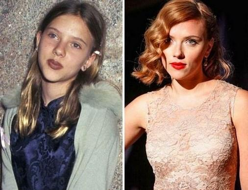 14. Scarlett Johansson 1996 ve şimdiki hali