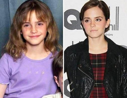 9. Emma Watson 2000 ve şimdiki hali