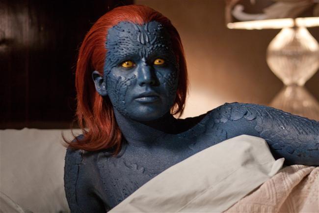 11. Mistik rolü için maviye boyanması 8 saat sürdü.