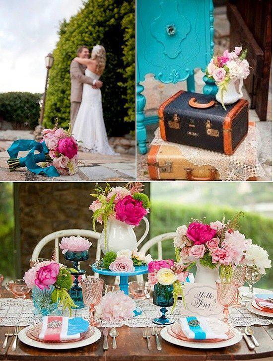 3. Çiçekler içinde masalar  Bir kır düğünü yapıyorsanız, masalarınızı sakın çiçeksiz bırakmayın! Yemyeşil kırın ortasında çiçeklere bezenmiş masalarla, düğününüze canlılık katın.