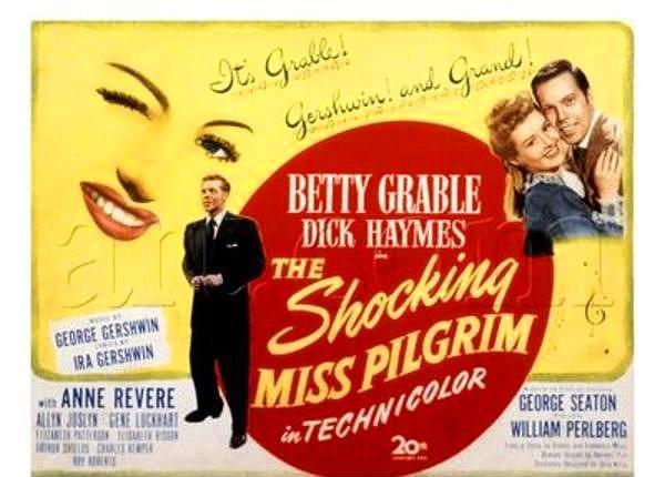 """7. İlk Beyaz Perde Deneyimi, 1947 Yılındadır.  Marilyn'in ilk filmi Şaşırtıcı Bayan Pilgrim olarak da bilinen """"The Shocking Miss Pilgrim""""dir. Marilyn, bu filmde telefon operatörü olarak bir anlığına görünür."""