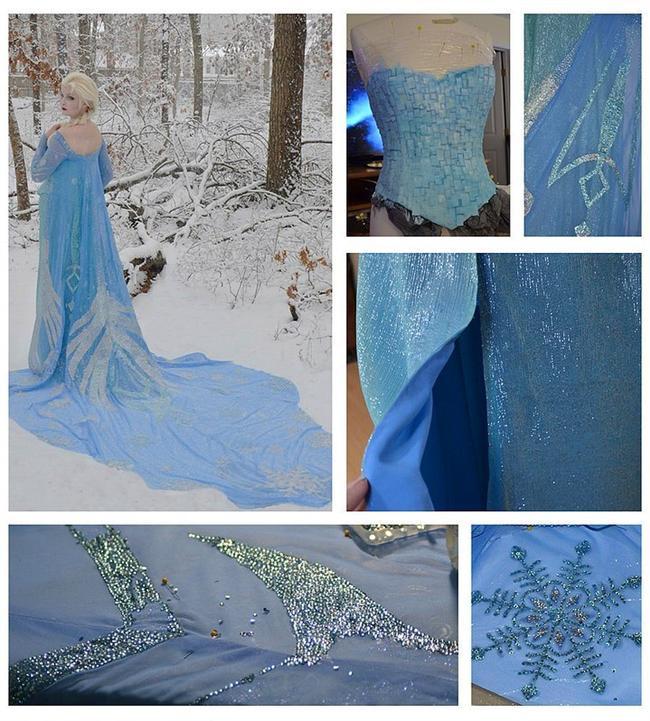 Elsa Kostümü'nün yapımı 250 saat sürmüş. Sadece elleriyle işlediği süslemeler bile 170 saatini almış.