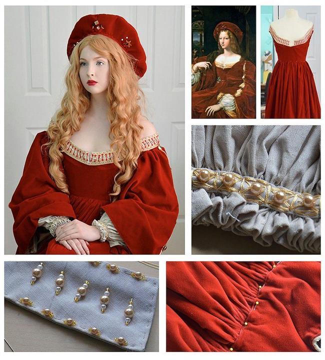 Raphael ve Giulio Romano'nın tablosundan esinlenerek tasarladığı bir kıyafet...