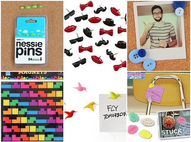 Hatırlanması gereken notlara kendi dokunuşlarınızı katın!  Biraz retro biraz günümüz ofiste o mantar panonun üzeri yarısı dökülmüş yarısı can çekişen notlarla dolu. Panonozu düzenleme zamanı.  Canavar Nessie: 24,90TL Papyon/bıyık/dudak: 24,90TL Düğme raptiyeler: 26.90TL  Tetris magnet: 26,90TL Uçan kuş magnet: 24,90TL Sakız magnet: 16,90TL