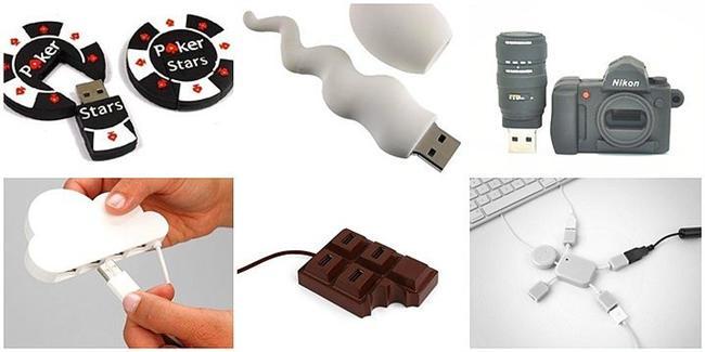 Ofistekiler kıskançlıktan çatlayacak!  USB bellek herkesin ihtiyacı yaratıcı tasarımlarla ofis arkadaşlarınızı kıskançlıktan çatlatacak. USB birleştiriciler masanızı toplamanın hem de kablolarınızın karışmamasının en güzel yolu!  Poker çipi: 39,90TL Sperm: 39,90TL Kamera: 39,90TL  Bulut: 39,90TL Çikolata: 34,90TL Adam: 34,90TL
