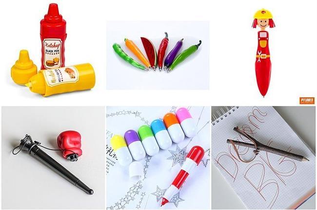 Sizden bir parça sanki bu kalemlerle eğlenmek de çalışmak da pek mümkün!  Belki de ofiste en çok kullandığınız objelerden kalem peki ya severek not almanızı sağlayacak hatta zaman zaman sizi eğlendirecek desem?  Ketçap/mayonez fosforlu kalem: 29,90TL Sebze kalemler: 9,90TL Kalem Box: 10,00TL Hap kalem: 4,90TL Sapan kalem: 15,00TL