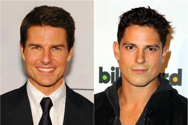 Tom Cruise & Sean Faris  Sean Faris'in kariyeri dışında, Tom Cruise'dan fazla bir eksikliği yok. 'Scientology' tarikatına katılmayı denese, belki şansı biraz daha açılabilir. Benzerlikleri konusunda çok iddialı değiliz. Ancak 'andırma', bu fotoğrafa bakınca, doğru kelime olabilir.