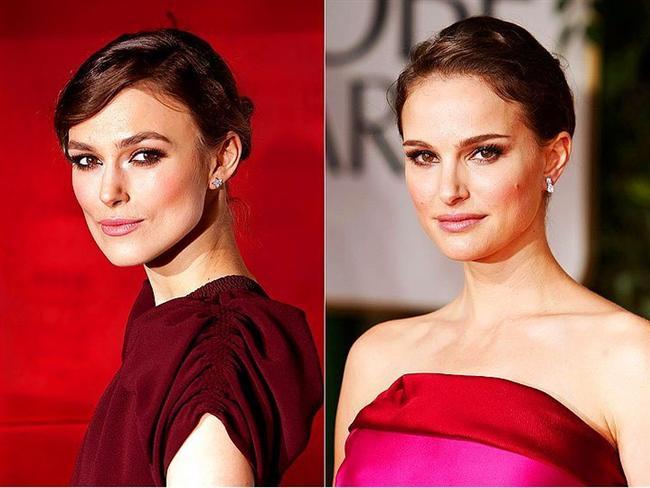 Keira Knightley & Natalie Portman  Aralarında bir benzerlik görülmesinin tek sebebi, Keira'nın anaoreksiya probleminin olması.