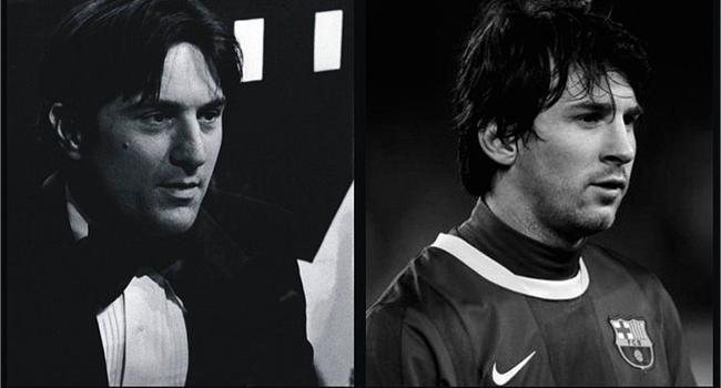 Bonus: Robert de Niro & Leo Messi  Yoruma gerek var mı :)