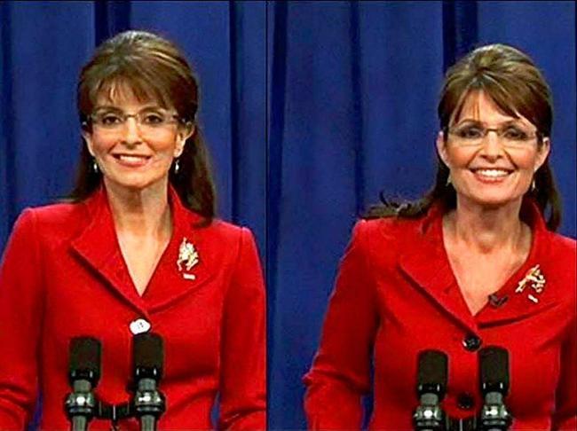 Tina Fey & Sarah Palin  Korkmayın Tina Fey'in normal hali elbette bir Sarah Palin değil. Ve elbette karakteri için de aynı şeyleri söylemek gerekir... Zaten olsaydı, muhtemelen bugün hala iki şeytani karakteri birbirinden ayırmakta güçlük çekiyor olurduk.