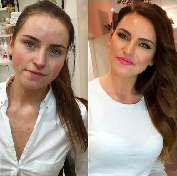 Öncesi & Sonrası 31 Makyaj Fotoğrafı - 2