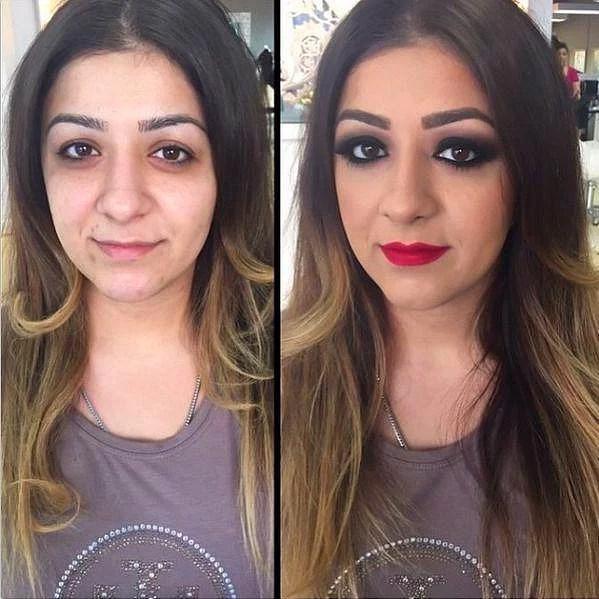 Öncesi & Sonrası 31 Makyaj Fotoğrafı - 24