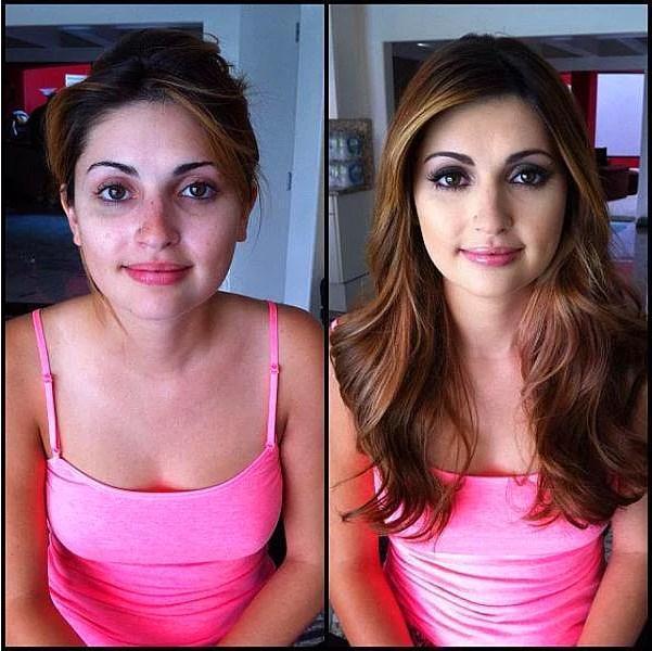 Öncesi & Sonrası 31 Makyaj Fotoğrafı - 4