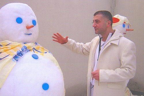 """Sedat Peker kardan adama atar yapıyor. """"Kardan adam akıllı olsun!"""""""