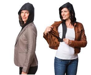 Portatif kapüşon.  Bu kapüşonla her kıyafetinizi yağmurluk haline getirebilirsiniz.