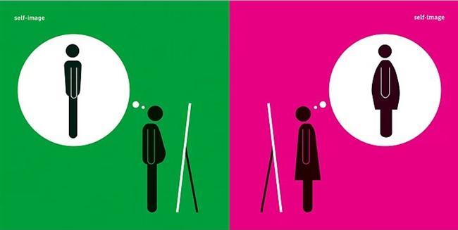 Erkeğin Aynaya Bakınca Gördüğü & Kadının Aynaya Bakınca Gördüğü