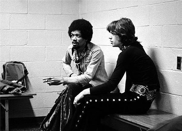 Jimmy Hendrix ve Mick Jagger