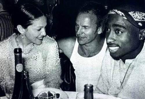Madonna, Sting ve Tupac
